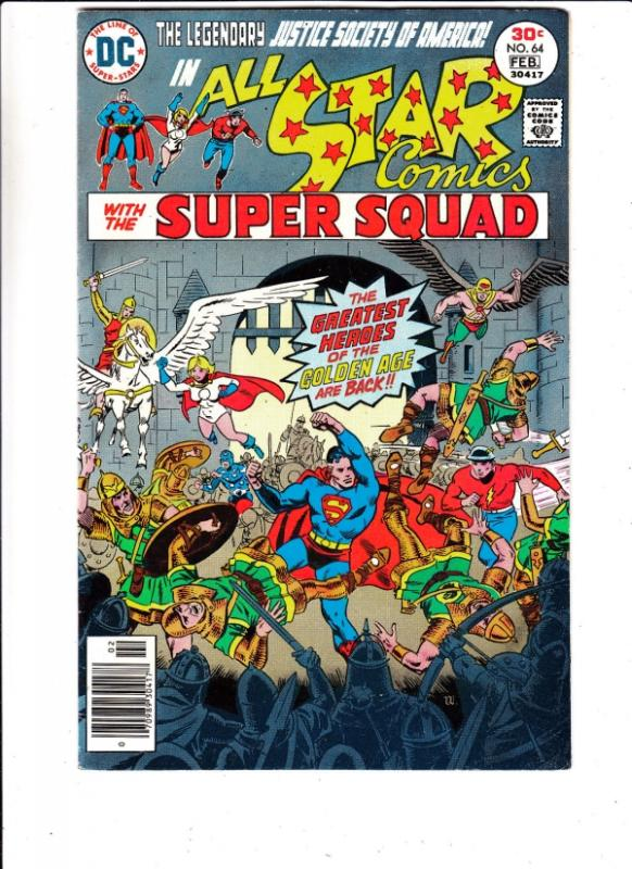 All-Star Comics #64 (Feb-77) NM- High-Grade Justice Society of America (Power...