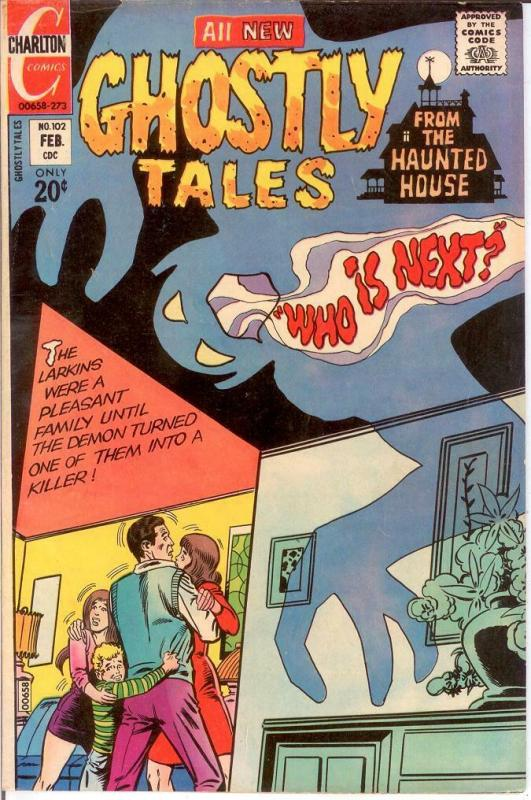 GHOSTLY TALES (1966-1984) 102 F+ Ditko cover & art COMICS BOOK