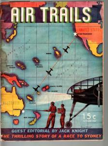 AIR TRAILS PULP 10/1938-AVIATION ART FRANK TINSEY-STREET AND SMITH FR