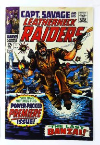 Captain Savage and His Leatherneck Raiders #1, VF- (Actual scan)
