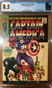 Captain America #100 (Marvel 1968) 1st Ongoing Series CGC 8.5 VF+ High Grade