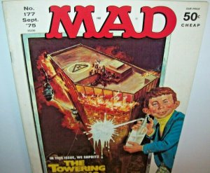 MAD Magazine Towering Inferno Sept 1975 No 177 Chico and the Man Freddie Prince