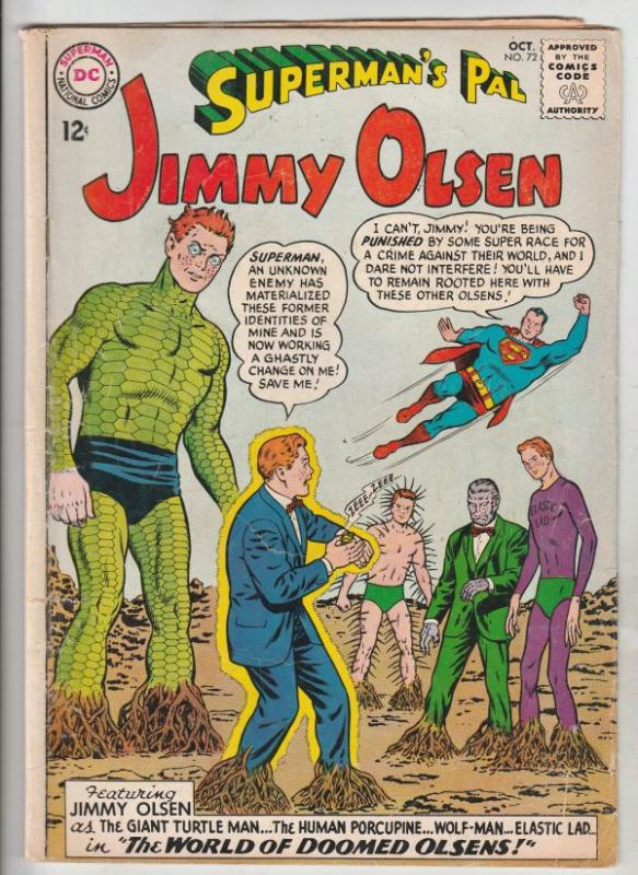 Superman's Pal Jimmy Olsen #72 (Oct-63) VG+ Affordable-Grade Jimmy Olsen