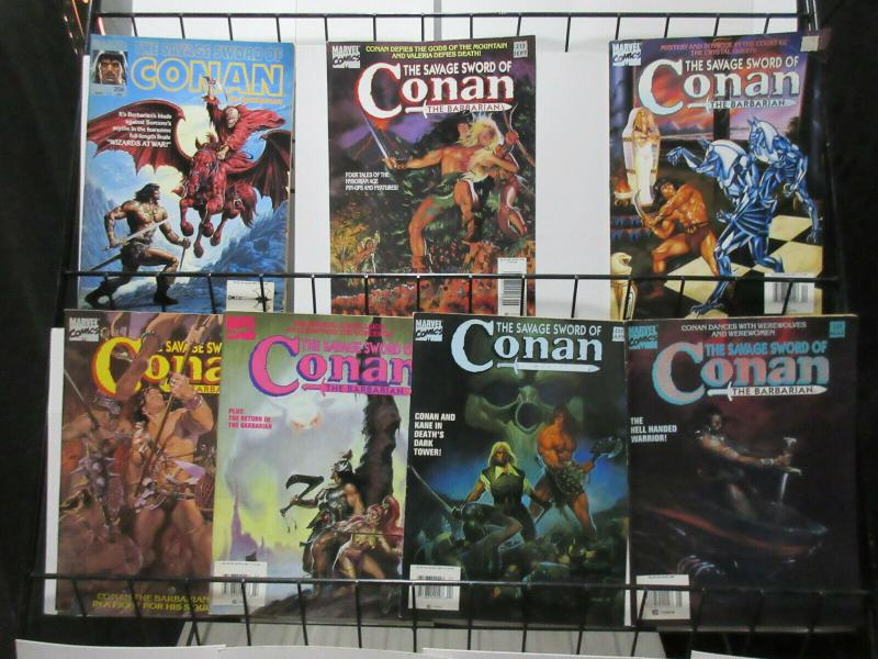 Savage Sword of Conan the Barbarian (Marvel 1993) #206-221 Lot of 7Diff