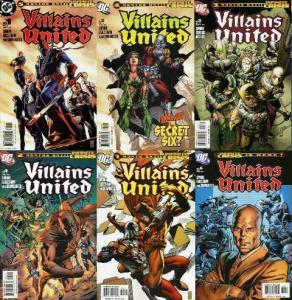 VILLAINS UNITED (2005) 1-6  COMPLETE! COMICS BOOK