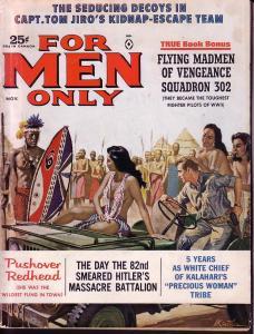 FOR MEN ONLY NOV 1962 GOOD GIRL ART J EDGAR HOOVER WAR VG