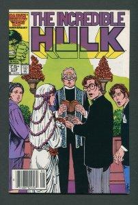 Incredible Hulk #319 / 7.5 VFN- Newsstand  May 1986