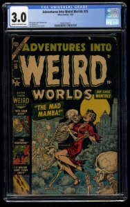 Adventures Into Weird Worlds #25 CGC GD/VG 3.0 PCH Skeleton Cover!