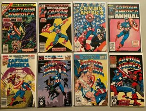 Captain america ANN comic lot from:#3-12 8 difference avg 6.0 FN (1976-93)