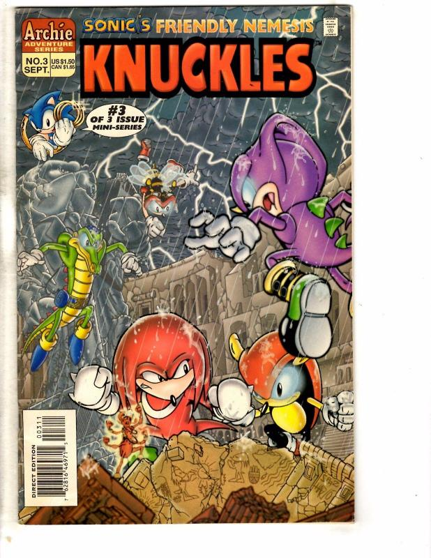 Knuckles # 3 FN Archie Adventure Series Comic Book Mini Series Sonic Hedge J233