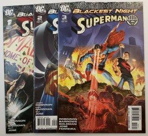 Blackest Night Superman #1-3 Complete Set High Grade NM DC Comics 2009
