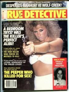 TRUE DETECTIVE-NOV 1987-VG/FN-SPICY-MURDER-RAPE-STRANGULATION- VG/FN