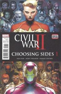 Civil War II: Choosing Sides #1 (Aug '16) - Captain Marvel, Nick Fury, Iron Man