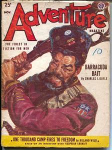 Adventure 11/1952-Popular-Norman Saunders cover art-pulp thrills-VG-