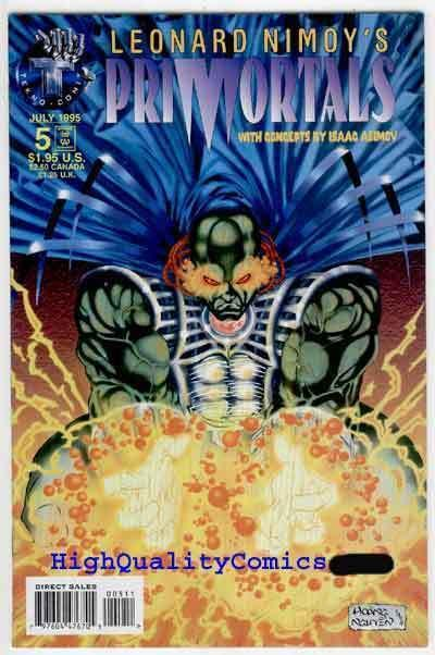 PRIMORTALS #5, NM+, Isaac Asimov, LEONARD NIMOY, 1995, more Indies in store