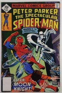 The Spectacular Spider-Man #22   Whitman Variant  MOONKNIGHT  Marvel 1978