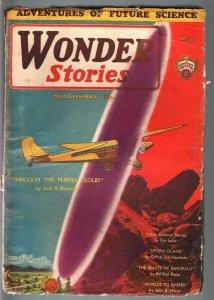 WONDER STORIES 1931 MAY-RARE SCI-FI PULP-AVIATION CVR! G
