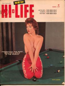 Hi-Life 3/1959-Wilmot-pulp fiction-pi-up pix-Judy O'Day-FN-