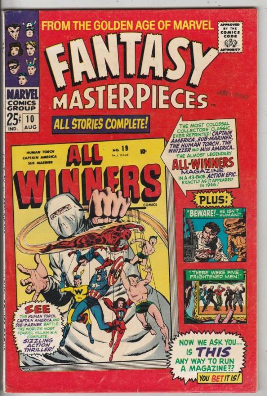 Fantasy Masterpieces #10 (Aug-67) VF/NM High-Grade Captain America, Bucky Barnes