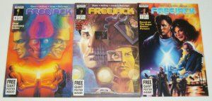 Freejack #1-3 VF/NM complete series based on movie - each comes with poster - 2