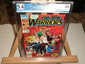 New Warriors #1 PGX 9.4, Origin New Warriors, Mark Bagley Art!