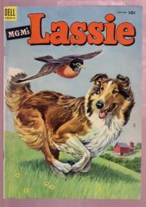 M-G-M'S LASSIE #14 1954-COLLIE DOG HERO ADVENTURE-MOVIE FN