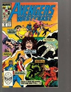 12 Marvel Comics Avengers West Coast #49 51 52 55 61 69 71 72 73 74 75 81 EK22