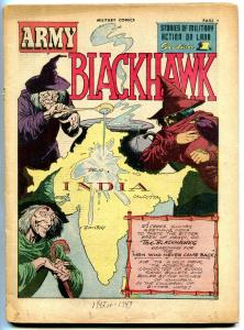 MILITARY COMICS #15- Blackhawk- Hitler appearance- coverless reading copy