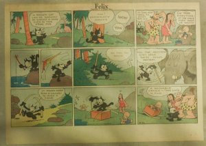 Felix The Cat Sunday Page by Otto Mesmer from 4/30/1933 Size: 11 x 15 inches