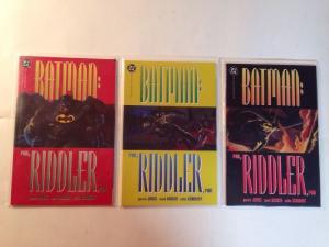 Batman Run Riddler Run 1-3 Complete Near Mint Lot Set Run Elseworlds