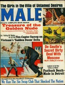 Male Pulp Magazine December 1966- De Gaulle- Swap Clubs VG-