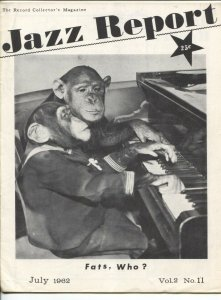 Jazz Report Vol 2 #11 7/1962-jazz and music collectors info-buy/sell ads-FN