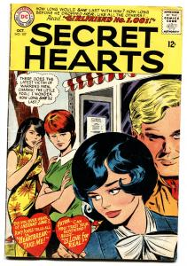 SECRET HEARTS #107 comic book 1965-DC COMICS-AMY AMES-SODA SHOP COVER