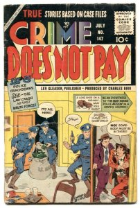Crime Does Not Pay #147 1955-FINAL ISSUE- Kubert cover G