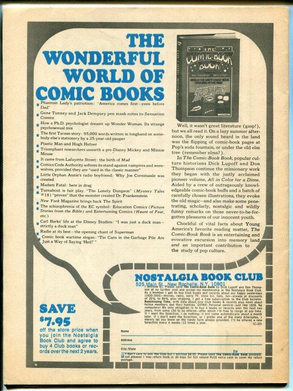 Inside Comics #3 1974-comics-code-Jim Steranko-Neal Adams-Kaluta-FN