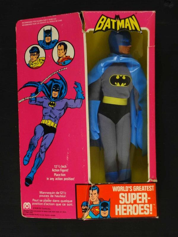 BATMAN MEGO 12.5 FIGURE-MINT IN BOX-1976-DC-FRENCH/ENGLISH