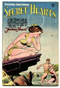 SECRET HEARTS #23 comic book Swimsuit cover 1954-DC ROMANCE