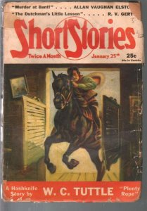 Short Stories 1/25/1941-pulp adventure-WC Tuttle-Frank Gruber-WWII era-FR/G