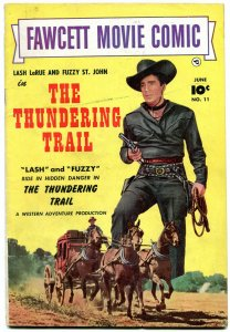 Fawcett Movie Comic #11 1951- The Thundering Trail- Golden Age Western FN-