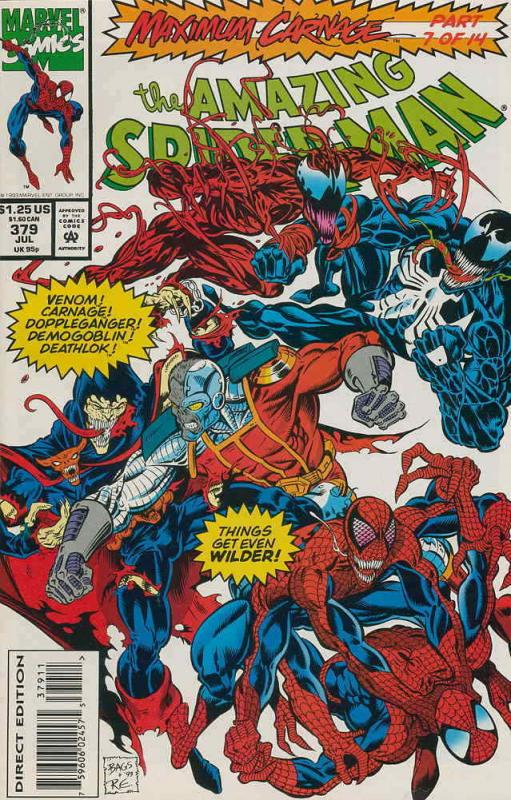 Amazing Spider-Man, The #379 VF/NM; Marvel | save on shipping - details inside
