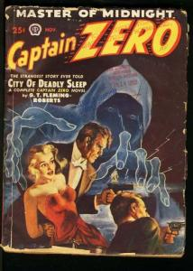 CAPTAIN ZERO 1949 NOV-#1-WOMAN TIED UP ON COVER VG