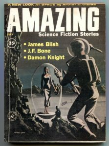 Amazing Stories July 1960- Arthur C Clarke- Damon Knight VG/F
