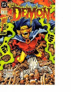 Lot Of 3 Demon DC Comic Books #1 1 2  Wonder Women WT15