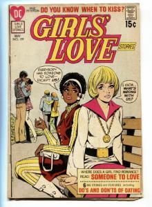 GIRLS' LOVE STORIES #159-DC ROMANCE-BLACK ROMANCE ISSUE VG