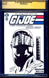 G.I. Joe #266 BLANK CGC SS 9.8 signed ORIGINAL SNAKE EYES SKETCH Robert Adkins