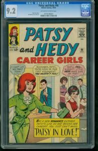 PATSY AND HEDY #96 1964-OFF-WHITE TO WHITE-CGC GRADED 9.2 0775195007