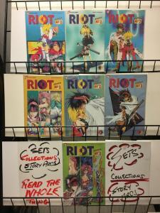 RIOT ACT 2 (1996 VIZ) 1-7  SATOSHI SHIKI  complete set!