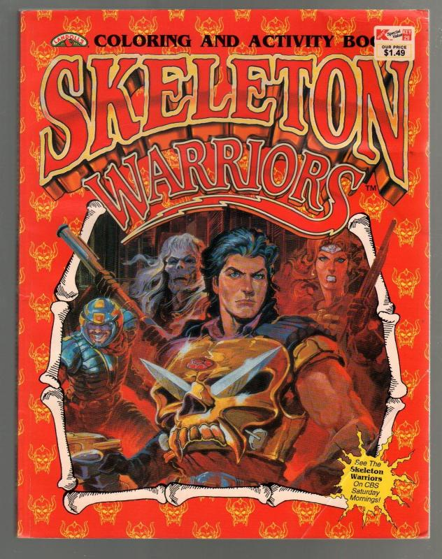 skeleton warriors coloring activity book 1994 tv series k mart