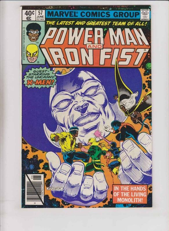 Power Man and Iron Fist #57 VF/NM uncanny x-men - living monolith - bob layton
