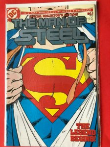 SUPERMAN THE MAN OF STEEL #1 1986 DC / COLLECTOR'S EDITION / HIGH QUALIT